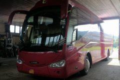 Scania Irizar - výmena čelného skla